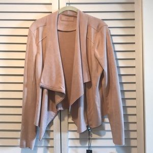 Faux suede drapey jacket from Blank NYC